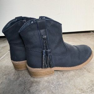 Navy blue cowboy boots in size 9